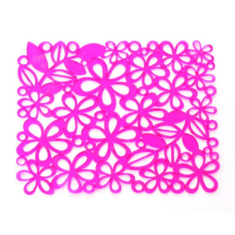 Tapete de plastico rosa
