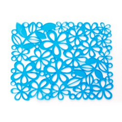 Tapete de plastico azul