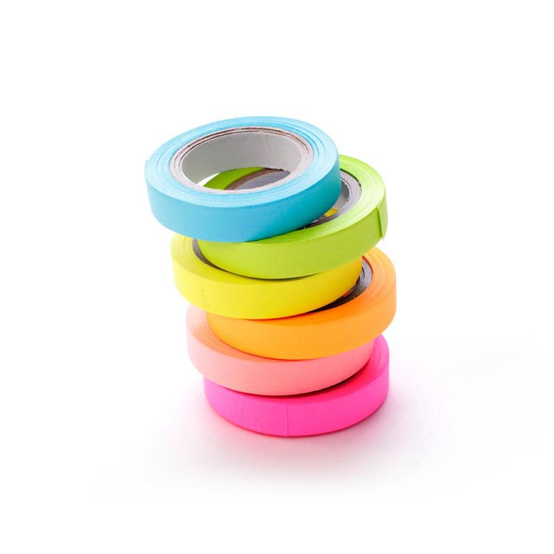 Paquete De Cintas Adhesivas De Papel Colores 6 Piezas