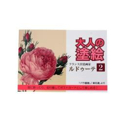 Vista frontal del cuaderno de Flores para Colorear japonés con diferentes diseños que encantarán a tus seres queridos.