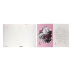Ejemplo de Flores para colorear de este hermoso cuaderno; así luce el interior del bloc.