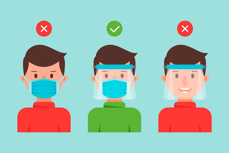 El uso de la careta es un elemento muy importante para prevenir la infección por Covid-19.