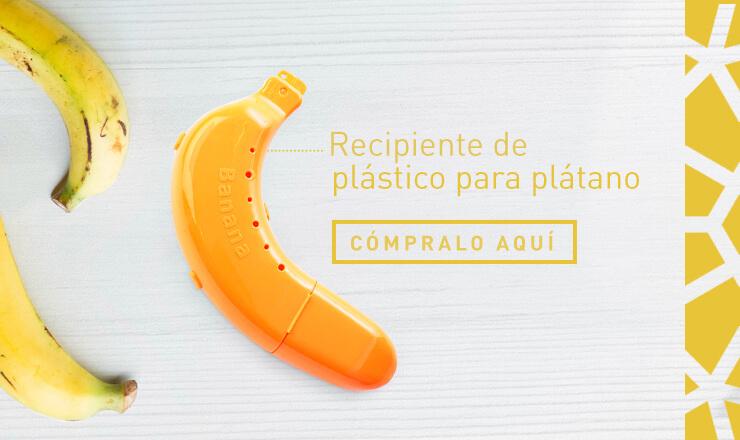 Recipiente de plástico para plátano