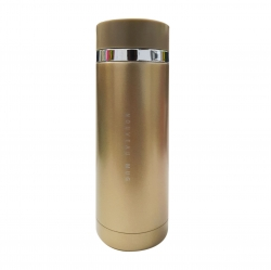Mini termo largo 300mL dorado