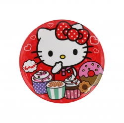 Plato redondo 20cm Hello Kitty